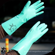 SRSAFETY Nitrile Gloves, Chemical Resistant Gloves, Flocklined Nitrile Gloves