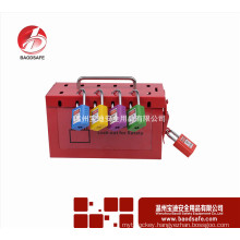 BAODI BDS-X8601 Group lockout kit safety padlock box Red