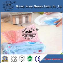 Spunlace Tissu non tissé À propos de la cuisine familiale Nettoyez les lingettes propres