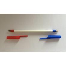 Stick bolígrafo con dos puntas de color azul y rojo
