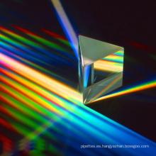 Lente de prisma triangular de vidrio personalizado equilátero para la enseñanza
