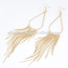 Fashion earrings jewelry water droplets tassel earrings