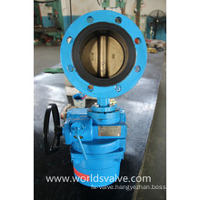 Electrical Double Flange Butterfly Valve with Bronze Disc