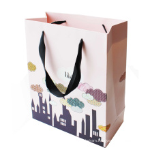 Paper Shopping Gift Bag with Black Handle