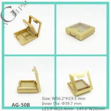 En plastique rectangulaire ombre à paupières cas avec miroir & fenêtre AG-50 b, AGPM empaquetage cosmétique, couleurs/Logo personnalisé