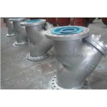 Fundición de acero Wcb Tipo Y Filtro Filtro de cola