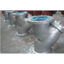 Casting Steel Wcb Y-Type Strainer Flange Strainer