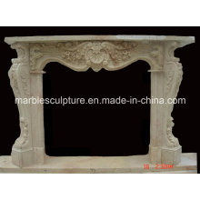China Natural Marble Fireplace Mantel (SY-MF032)