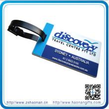 Mkae PVC-nettes Logo für Kofferanhänger mit Plastikaufhänger