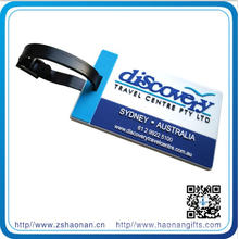Mkae PVC Cute Logo for Luggage Tag with Plastic Hanger