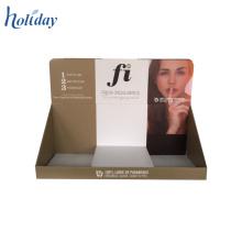 Caja de presentación perforada de la cartulina del contador de la tienda de encargo, envases cosméticos al por mayor
