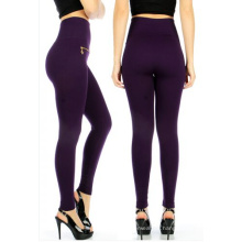 Hohe Taille Fleece Zipper Leggins nahtlose Hose