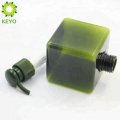 Green essential oil square bottle 100ml green shampoo pet bottle for hand wash packing