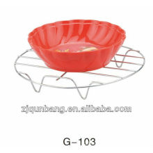 Kitchen Metal Bowl Rack & Dishes Plate