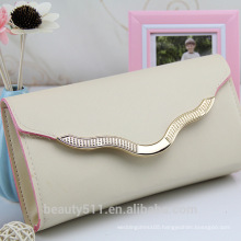 Wholesale Fashion ladies leather wallet ladies pars hand bag genuine women clutch bag HB40