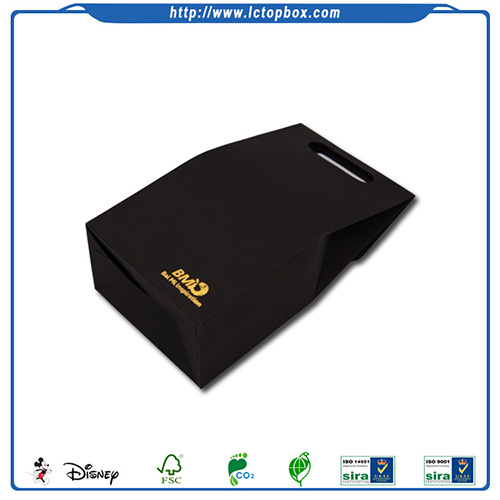 black craft paper candy bag with Die-Cut Handle