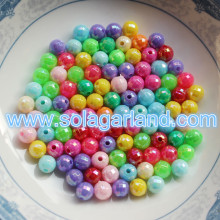 6MM Round Plastic Micro Chunky Beads AB Gumball Beads Charms