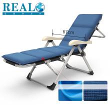 Principalmente popular durável reclinável ao ar livre barato espreguiçadeira cadeira dobrável com colchão