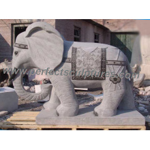 Carving Stone Marble Elephant Animal Sculpture pour statue de jardin (SY-B106)