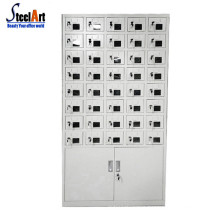 Public multi cell phone charging station mobile phone locker