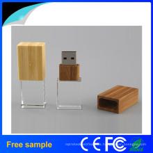 2016 Hotsale de cristal de madera USB Pendrive