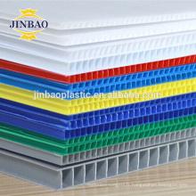 JINBAO publicité pack matériel en plastique creux conseil pp plaque feuille