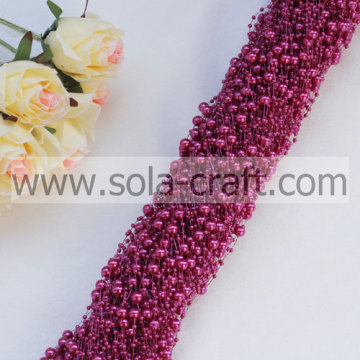 3&8mm dark red popular ABS plastic pearl wrap for necklace, candle wreath,