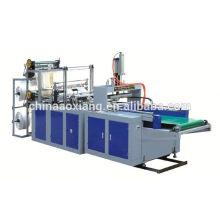 HQ-450x2 full Automatic double lines plastic t-shirt Bag making Machine: