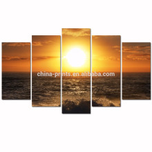 Sea Sunset Canvas Wall Art/Ocean Wave Canvas Picture for Wall/Seascape Framed Canvas Artwork