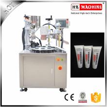Loción de manos / crema hidratante semiautomática tubo de llenado y sellado de la máquina