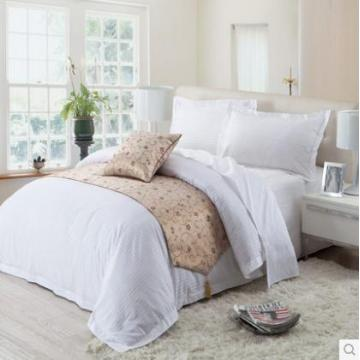 Canasin Classic 1cm Streifen Hotel Bettwäsche 100 % Baumwolle weiß