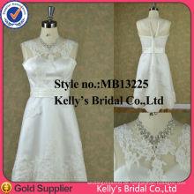 Durchsicht mit Spitze-Seitentaste Abdeckung Brautjungfer Kleid Abendkleid Damen Nachtkleid