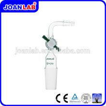 Joan Laboratory Glassware Tubes d'aspiration Joint mâle courbé avec clapet en PTFE