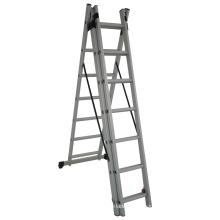 Escaleras de escalera de extensión combinada de aluminio de 6 m