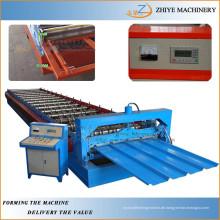 Eisen-Wellpappe Aluminium-Trapez-verzinkte Bedachungsplatten Roll-Formmaschine