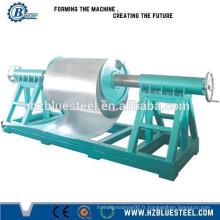 Machine de formage de rouleaux de feuille de toiture en aluminium avec dérouleur, décolleuse de feuille de métal à vendre