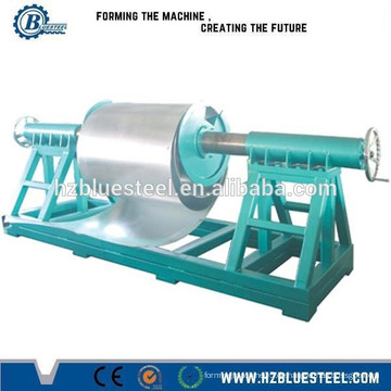 Aluminium-Dachblech Rollen-Umformmaschine mit Abwickler, Blech-Decoiler zum Verkauf