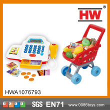High Quality Kids Toy Register Supermarket Shopping Game With Music And Light