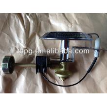 Queimador de gás de cromo revestido de aço inoxidável pequeno, queimador de cozimento único com ignição