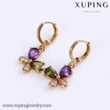 24744 Xuping bijoux plaqué or 18 carats vente chaude mode boucle d'oreille