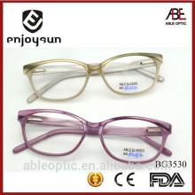 HOTSELLING Colored fashion students acetate hand made spectacles optical frames eyewear eyeglasses