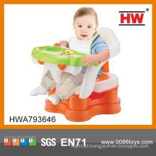 2015 Plástico novo do projeto 4 em 1 tabela e cadeira de jantar do bebê