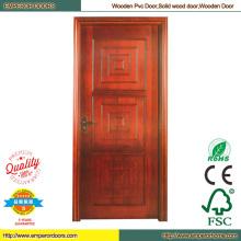 Puerta madera roja cereza puerta madera marco puerta de madera