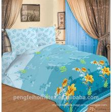 Beautiful design printed microfiber fabric for bedding sheet