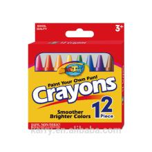 Wachskreide (Buntstifte fügen feuchte, trockene Wasserfarbe hinzu)