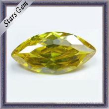 Pierres précieuses brillantes CZ marquise jaune (STG-51)