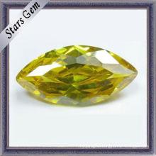Yellow Marquise Shining CZ Gemstone (STG-51)