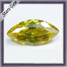 Amarelo marquise brilhando CZ Gemstone (STG-51)
