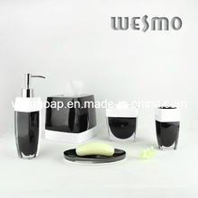 White and Black Polyresin Bathroom Set (WBP0223A)