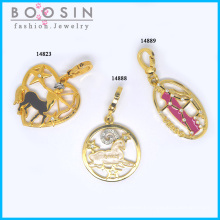 12 Constellations Gold Plated Necklace Pendant